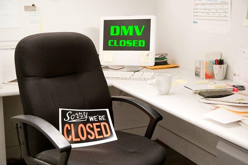 DMV System Shutdown til Monday