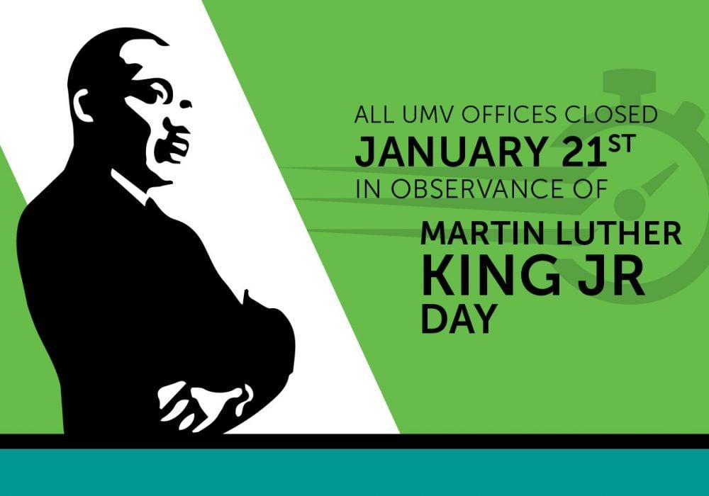 UMV-MLK-Jr_Day-Closure
